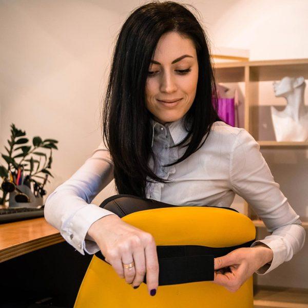 Массажная подушка uShiatsu Plus, ,беспроводная,  4 массажных ролика, прогрев, индикатор зарядки, роликовый массаж, 3D массаж, GESS