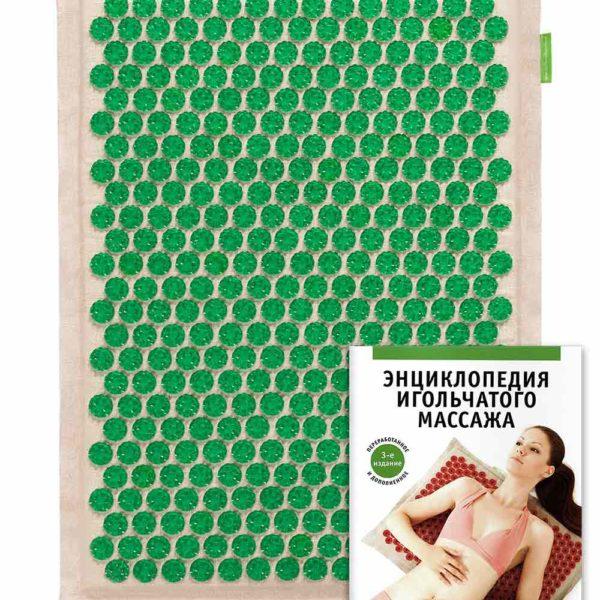 Массажер медицинский Тибетский аппликатор Кузнецова, на мягкой подложке, 41х60 см зеленый