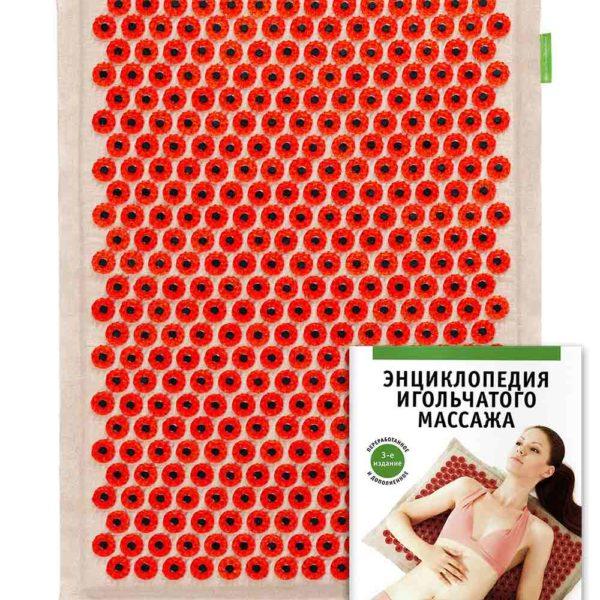 Массажер медицинский Тибетский аппликатор Кузнецова,магнитный, на мягкой подложке 41x60 см,красный