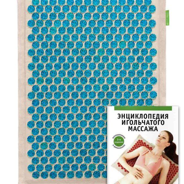 Массажер медицинский Тибетский аппликатор Кузнецова, на мягкой подложке 41х60 см синий