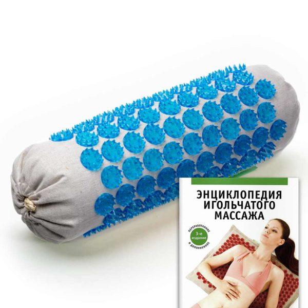 Массажер медицинский Тибетский аппликатор Кузнецова, мягкий валик универсальный синий