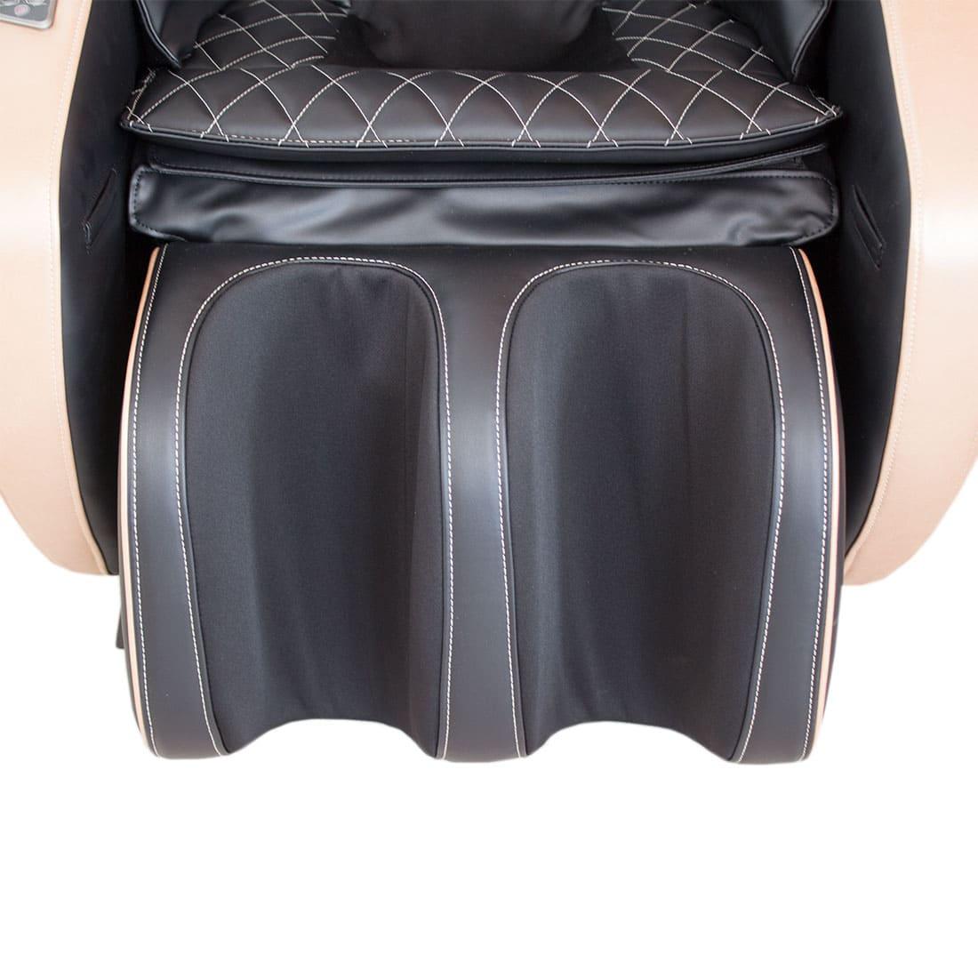 Массажное кресло Bend коричнево-черное, L-образная каретка, колонки, массаж фиксированной точки, прогрев, автоотключение, bluetooth, GESS
