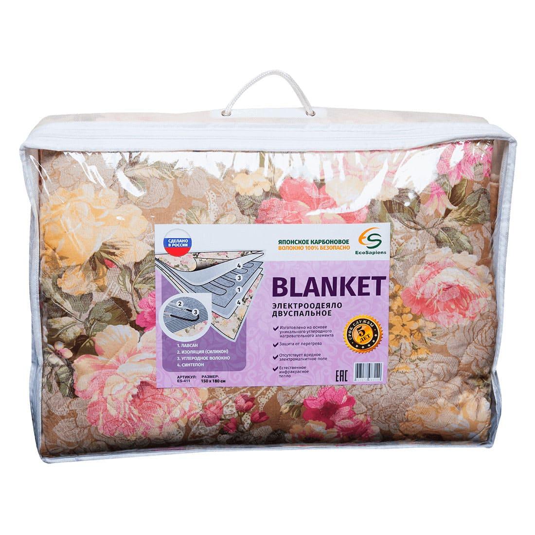 (СП) Blanket электроодеяло (150 * 180 см); упаковка - сумка