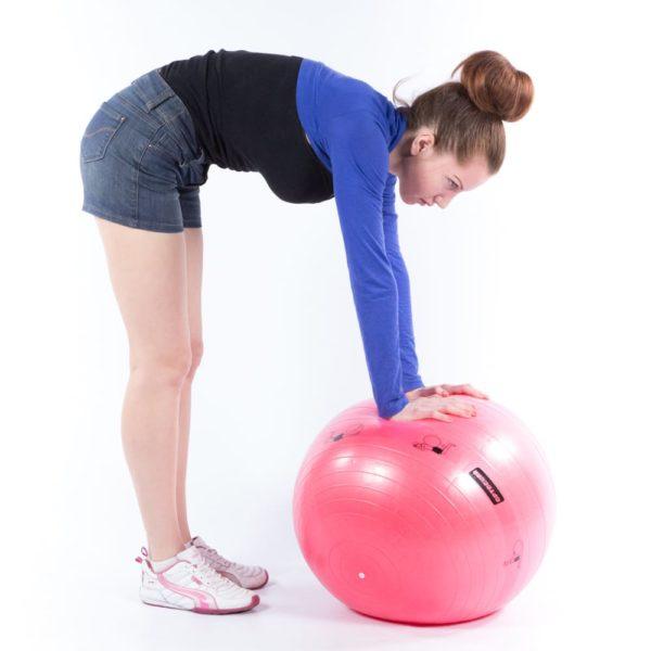 Armed Гимнастический мяч для фитнеса с АВС L 0765b, 65см (в коробке с насосом), красный