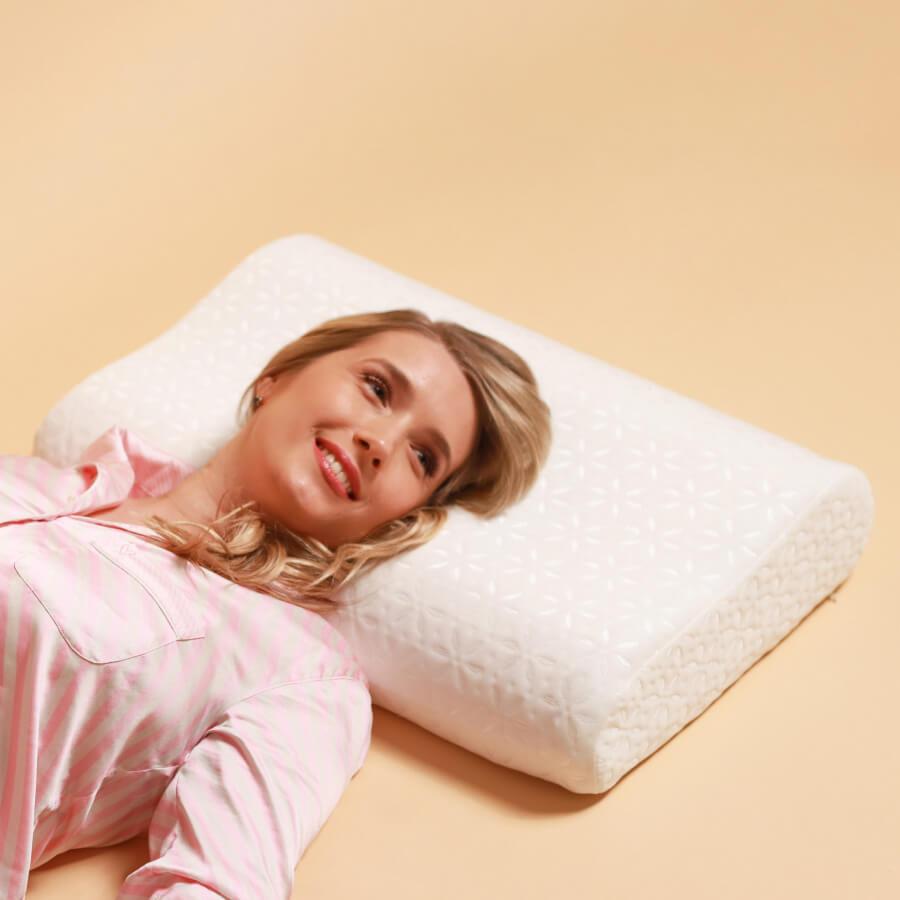 Memory PLUS ортопедическая подушка с эффектом памяти  (60×40х11/13 см)