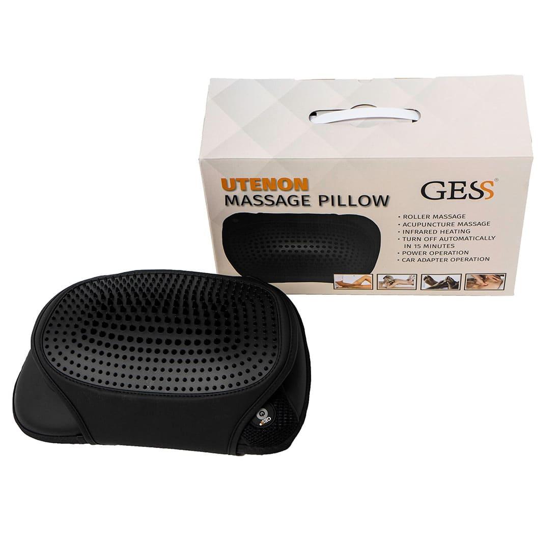 uTenon (черная) массажная подушка для шеи с акупунктурной накидкой