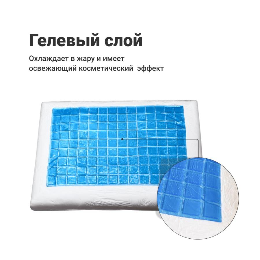 Fresh Sleep двухсторонняя гелевая подушка с эффектом памяти (60*40*13)