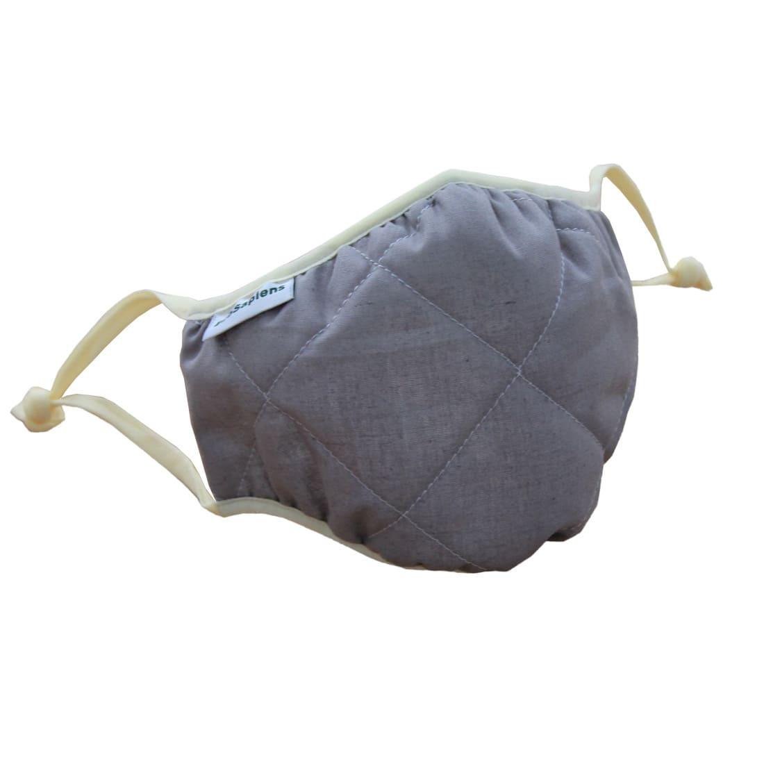 Маска защитная EcoSapiens трёхслойная многоразовая, 3 шт. в наборе, серая